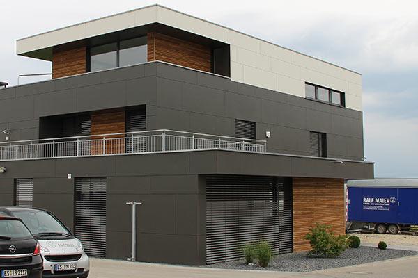Fassade und Innenausbau für einen Gartenbaubetrieb